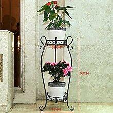 Blumenrahmen Eisen mehrstöckig europäisch - Stil Balkon Wohnzimmer Pflanze Rack Indoor Mehrzweck Blumentopf Rack