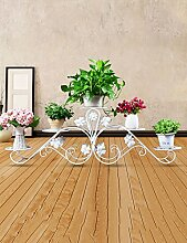 Blumenregal Bügelfußboden 5-lagiges Blumentopfgestell Europäische einfache Innen-und Außenbereich Pflanzen Bonsai Regale ( farbe : Weiß , größe : 100cm*32cm )