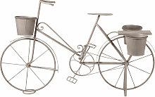Blumenregal Fahrrad aus Metall, grau mit