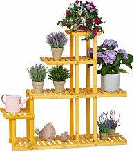 Blumenregal Holz, mit 5 Etagen, HBT: 94,5 x 104 x