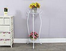 Blumenregale, europäischer Stil Eisen Multilayer Balkon Blumentopf Rack Indoor Wohnzimmer Leiter Blumenregal 22 × 67cm ( Farbe : Weiß , größe : 25*85cm )
