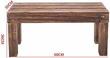 Blumenregale, Karbonisierung Korrosionsschutz Massivholz Steps Leiter Bad Balkon Pedal 60 × 30 × 18cm ( größe : 60*30*36cm )