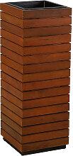 BLUMENSÄULE Holz, Kunststoff Akazie massiv