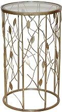 Blumensäule in Gold Glas Italienisches Design