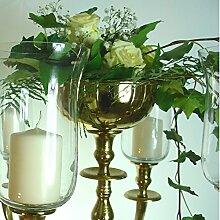 Blumenschale Silber / Gold / Weissfarbend 16cm