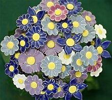 Blumenset 10 Keramikblumen Frühling