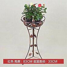 Blumenständer, 1-Pack Eisen Art Flowerpot Steht,