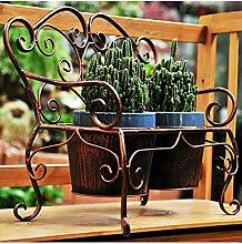 Blumenständer Amerikanische Art-Retro- Blumen-Topf-Eisen-Blumen-Zahnstange Succulent Pflanzen-Ausgangsdekoration-Blumen-Zahnstange Pflanzentreppe ( Farbe : A )