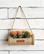 Blumenständer Amerikanische Pastoralwand Henging Kreative Blumenregal Pflanze Stand Blumentopf Regal Für Balkon Wohnzimmer Indoor Gelb mit Pflanzen Blumen ( größe : A )
