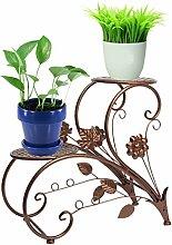 Blumenständer aus Eisen, Terrasse, Dekor, Bronze