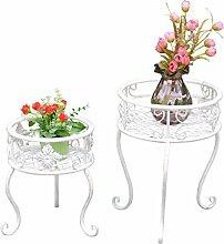Blumenständer Blumen Hocker 2teilig weiß Shabby