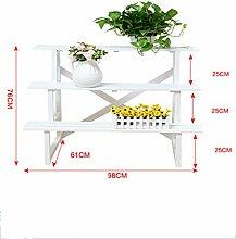 Blumenständer Blumentöpfe Regal Multi - Storey Holzboden Balkon Pflanze Stand Wohnzimmer Einfache Blumen Racks ( größe : J )