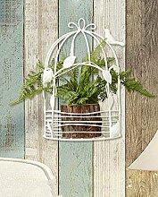 Blumenständer Blumentopf Regal 2 Stück, dekorative Wand hängende Blume Rack vergossen Eisen Blume Rahmen Wohnzimmer Garten Ornamente Pflanzentreppe ( größe : 18cm/2 )