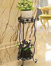 Blumenständer Blumentopf Regal, Blumenständer, Pflanze Stand im europäischen Stil Montage Blumenrahmen Eisen Wohnzimmer Einfache Blume Rack Indoor Floor Töpfe Regal Pflanzentreppe ( farbe : B , größe : 37*85cm )