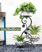 Blumenständer Creative Flower Rack, Balkon Mehrstöckige Indoor Blumentopf Regal Pflanzentreppe ( farbe : B , größe : 65cm )