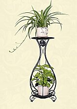Blumenständer Eisen Kreativ Mehrschichtig Europäische Stil Innen Wohnzimmer Boden Typ Blumentopf Rahmen Balkon Spinnen Pflanzen Blumenregal Pflanzentreppe ( Farbe : A )