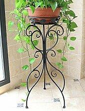 Blumenständer Europäische Art-Eisen-Blumen-Zahnstange Wohnzimmer Einzelne Schicht Erdgeschoss-Art Balkon Im Freien Chlorophytum-Pflanzen-Blumen-Zahnstange Pflanzentreppe ( Farbe : B , größe : 24*35*70cm )