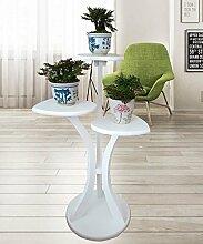 Blumenständer Europäische Massivholz Wohnzimmer Blumentopf Regal Einfache Pflanze Stand Blume Rack ( farbe : Weiß )