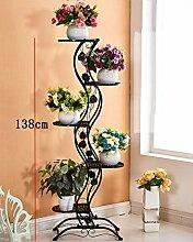 Blumenständer Europäischer Stil Blumenrahmen Weiß Wohnzimmer Indoor Multi - Storey Blumen Regal Balkon Bonsai Rahmen Pflanzentreppe ( farbe : B , größe : 140cm )