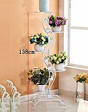 Blumenständer Europäischer Stil Blumenrahmen Weiß Wohnzimmer Indoor Multi - Storey Blumen Regal Balkon Bonsai Rahmen Pflanzentreppe ( farbe : C , größe : 140cm )