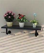 Blumenständer Kreative Amerikanische Retro Eisen Blumentopf Regal Pflanze Stand Blume Rack ( farbe : Schwarz , größe : 60 )