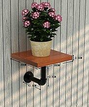 Blumenständer Kreative Amerikanische Retro Eisen Blumentopf Regal Pflanze Stand Blume Rack ( farbe : Gelb , größe : 20CM )