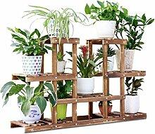 Blumenständer Massivholz Mehrstöckige Boden Pflanze Stand Blumentopf Regal Blume Rack Für Balkon Wohnzimmer Indoor
