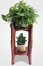 Blumenständer Massivholz Pflanze Stand Indoor 2 - Layer Bonsai Blumentöpfe Regal Blume Rack Wohnzimmer ( größe : 60 )