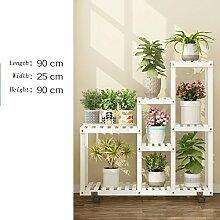 Blumenständer mit Rädern Bambus Indoor