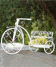 Blumenständer Pflanze Stand Eisen Fenster Desktop Blumentopf Regal Fahrrad Europäische Pastoral Kreative Weiße Blume Rack