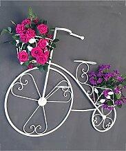 Blumenständer Pflanze Stehen Retro Eisen Fahrrad Blumentopf Regal Wand Hängenden Balkon Blume Rack ( farbe : Weiß )