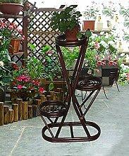 Blumenständer Rattan Blumenregale Pflanze Rattan Racks Mehrgeschossige Regale Blumentopf Rack ( farbe : B , größe : 55*92cm )