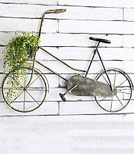Blumenständer Retro Eisen Fahrrad Wand Hanging Kreativ Pflanze Stand Blumentopf Regal Blume Rack Für Balkon Wohnzimmer Indoor Gelb ( Farbe : B )
