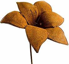 Blumenstecker Tulpe, Edelrost, Ø 28cm