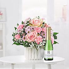 Blumenstrauß Alles Liebe mit GRATIS Rindchen