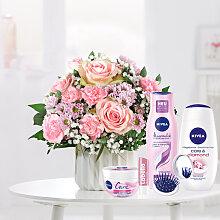 Blumenstrauß Alles Liebe mit Nivea Glamour