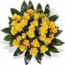 Blumenstrauß Blumenversand 15 gelbe Rosen