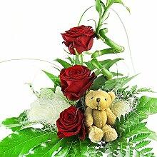 Blumenstrauß Geburtstag - Glücksbambus und Rosen