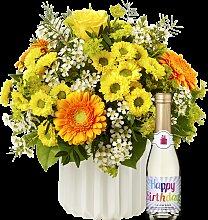 Blumenstrauß Geburtstagsüberraschung mit Piccolo
