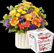Blumenstrauß Happy Birthday mit Raffaello