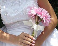Blumenstrauß Hochzeit Kunstblumen, gerbera, rosa