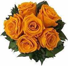 Blumenstrauss konserviert mit 6 Rosen - Rosemarie