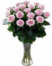 Blumenstrauß mit 18 frischen Rosen, rosafarben