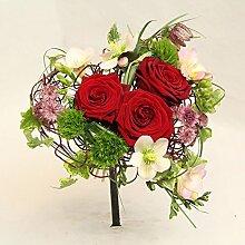 Blumenstrauß mit roten Rosen,Klein aber Fein,Size