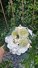 Blumenstrauß Nr.5 - weiss Strauß künstlich -