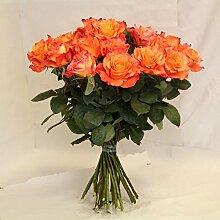 Blumenstrauß orangne Rosen Amore Size 80 Euro