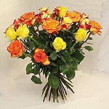 Blumenstrauß Rosen in gelb orange Florale Küsse