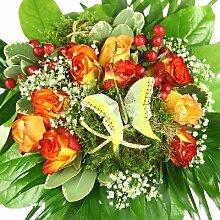 Blumenstrauß - Schmetterling - Kreative Geschenkidee z.B. zum Geburtstag