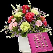 Blumenstrauß Schön, dass es dich gibt mit Lindt