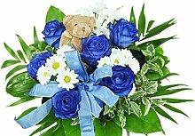 Blumenstrauß zur Geburt Junge - Strauß mit